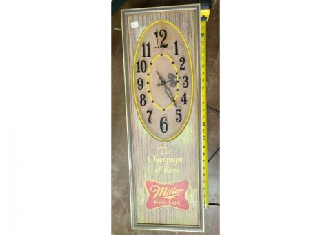 Miller High Life Clock The champagne of beers